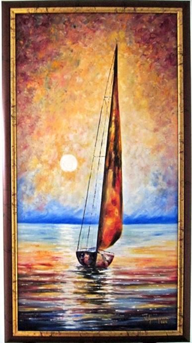 Picturi maritime navale Liniste pe mare