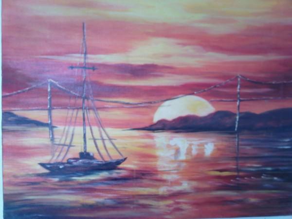 Picturi maritime navale Ambarcatiune