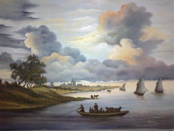 Picturi maritime navale Trecerea apei
