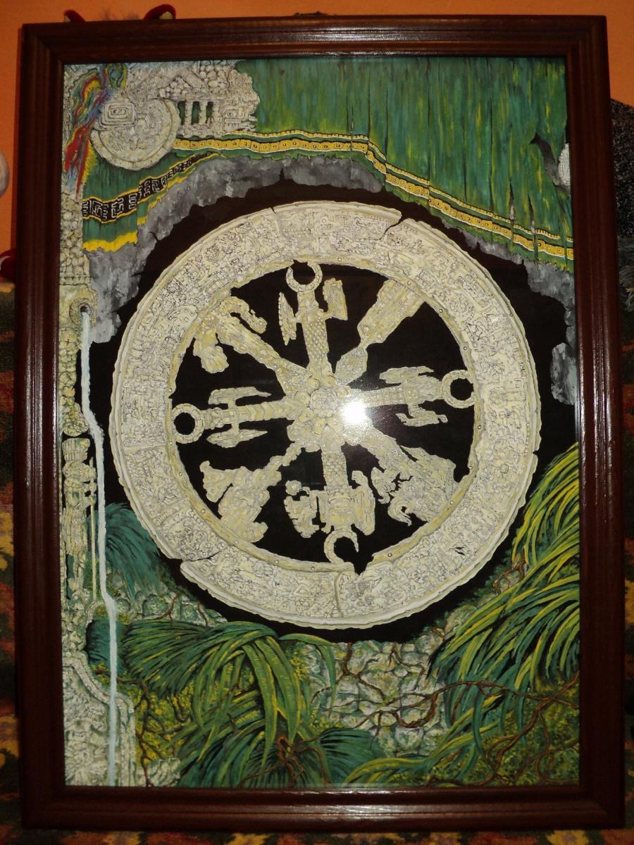 Picturi murale Roata mayasa