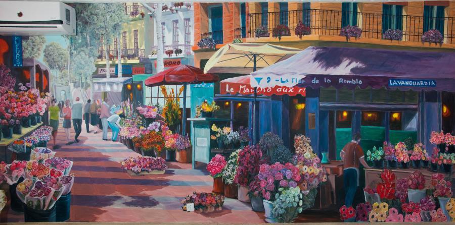 Picturi murale Piata cu flori