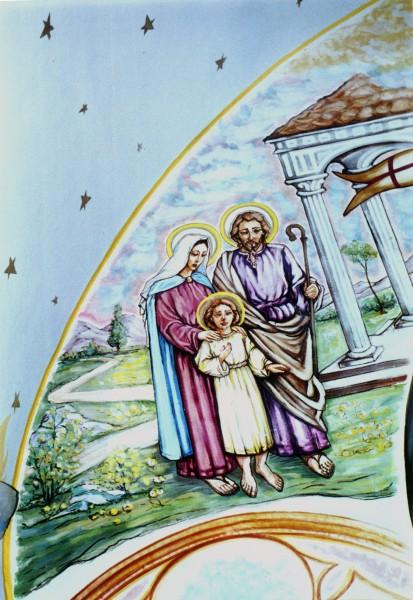 Picturi murale Sfanta familie