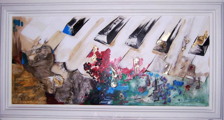 Picturi murale Vibratia muzicii