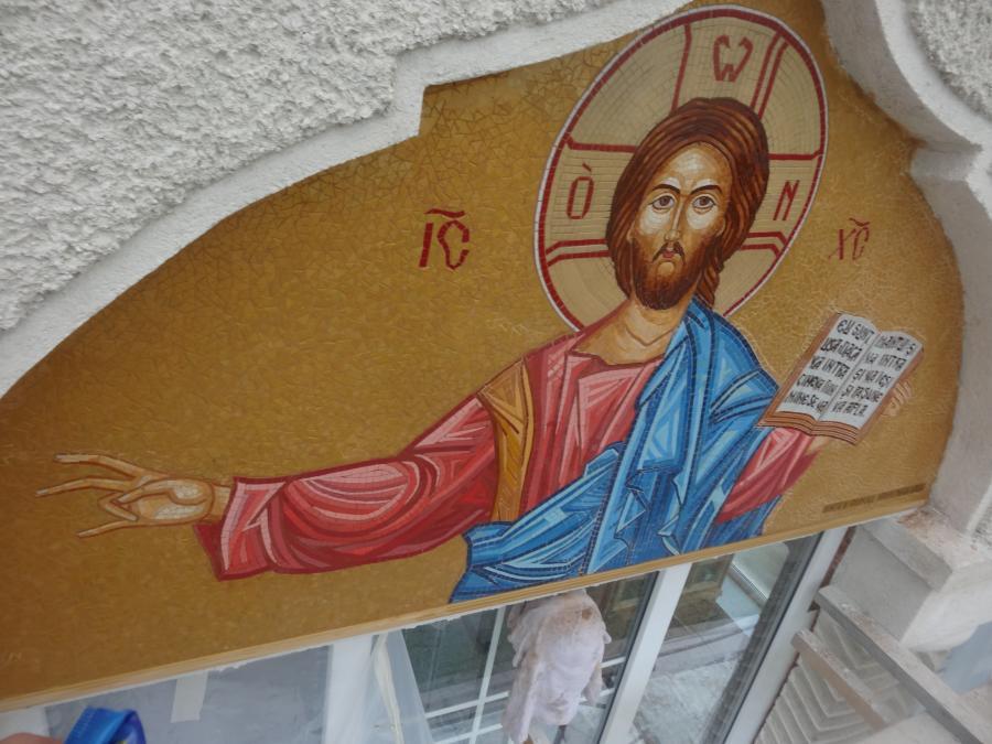 Picturi murale Mozaic mural bisericesc