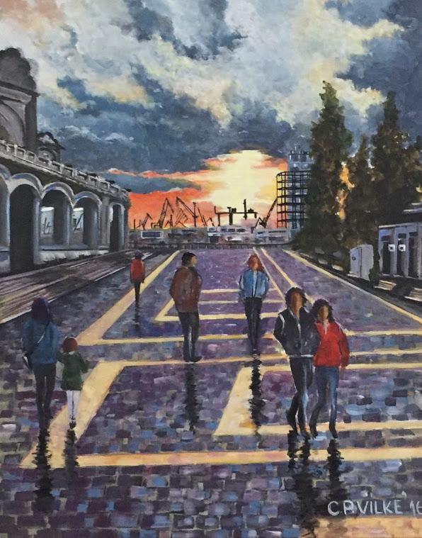 Picturi cu peisaje Apus la Cazinou