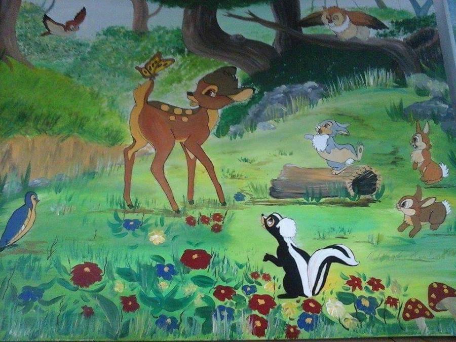 Picturi murale bambi si prietenii dragalasi
