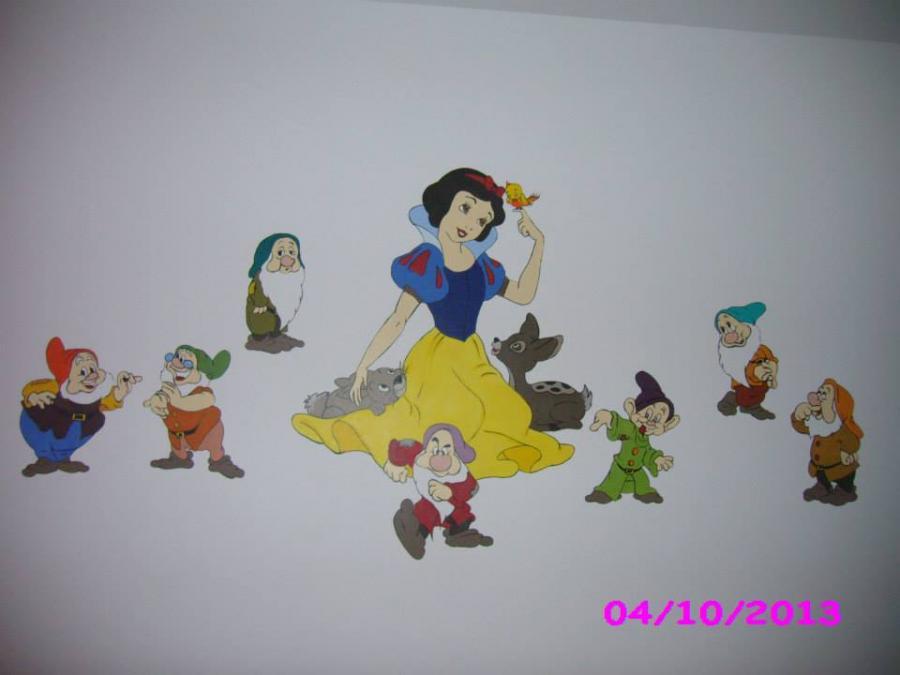Picturi murale Alba ca zapada si cei 7 pitici