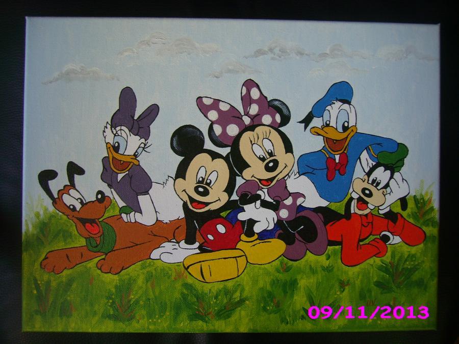Picturi murale Mickey Mouse si prietenii