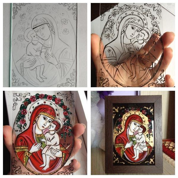 Picturi religioase Icoana pe sticla