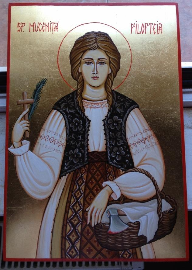 Picturi religioase Sfanta Mucenita Filofteia