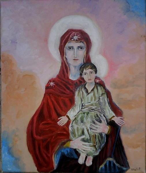 Picturi religioase Maica domnului cu pruncul