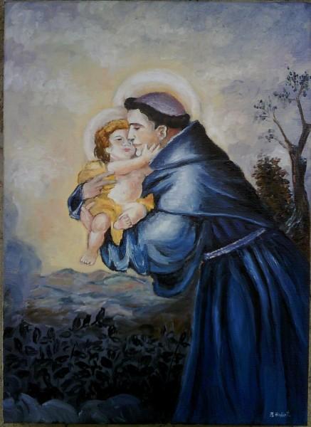 Picturi religioase Sf iosif cu pruncul