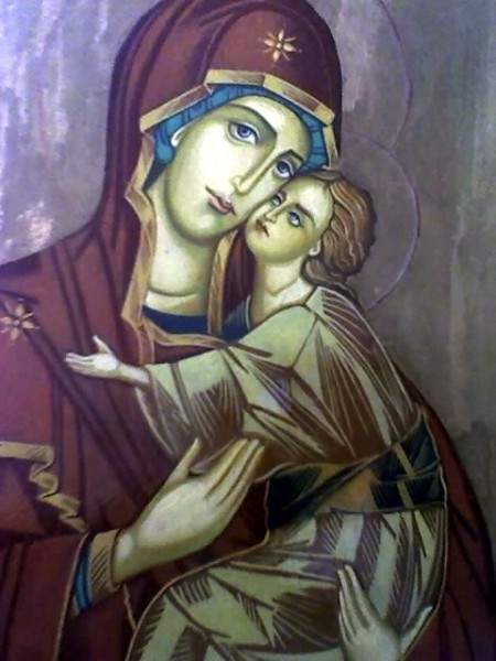 Picturi religioase Feciora maria si pruncul