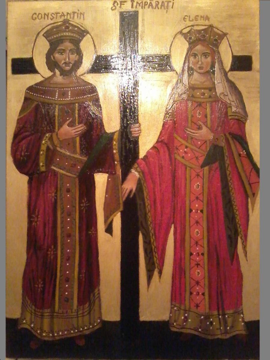 Picturi religioase Icoana Sf.  Constantin si Elena