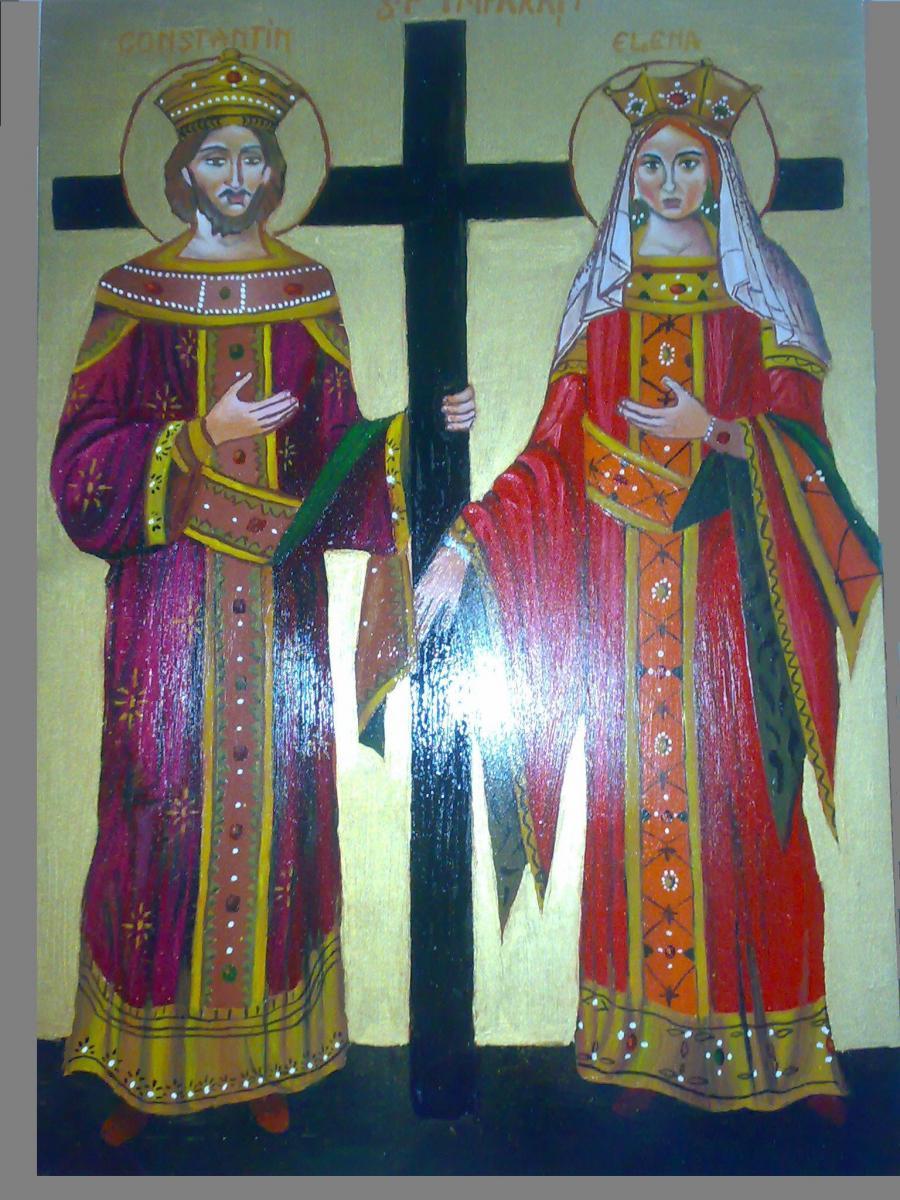 Picturi religioase Icoana Sf. Imp. Constantin si Elena