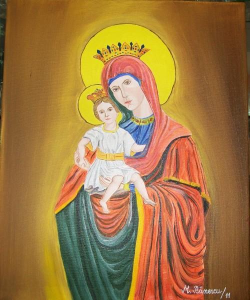 Picturi religioase Maica domnului si pruncul iisus