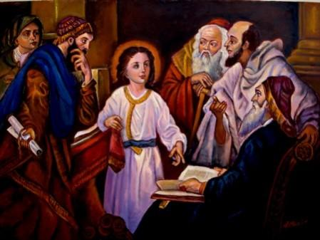 Picturi religioase Iisus si Rabinii01