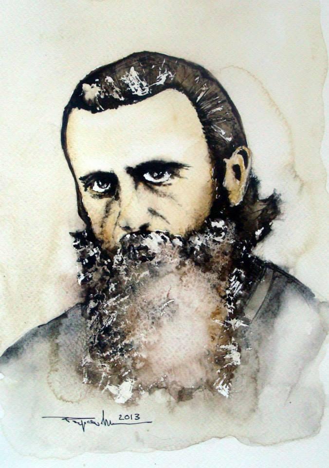 Picturi acuarela Pr. Arsenie Boca
