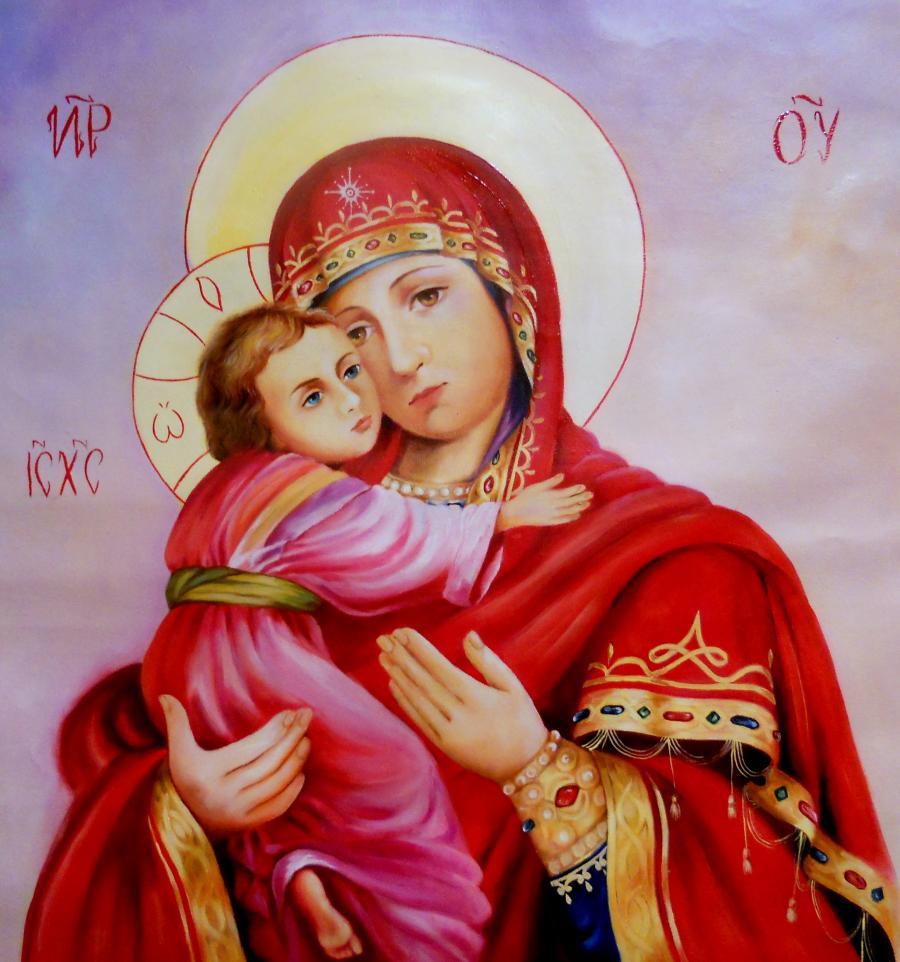 Picturi religioase Maica Domnului cu Domnul Isus