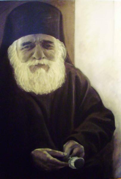Picturi religioase Portret calugar