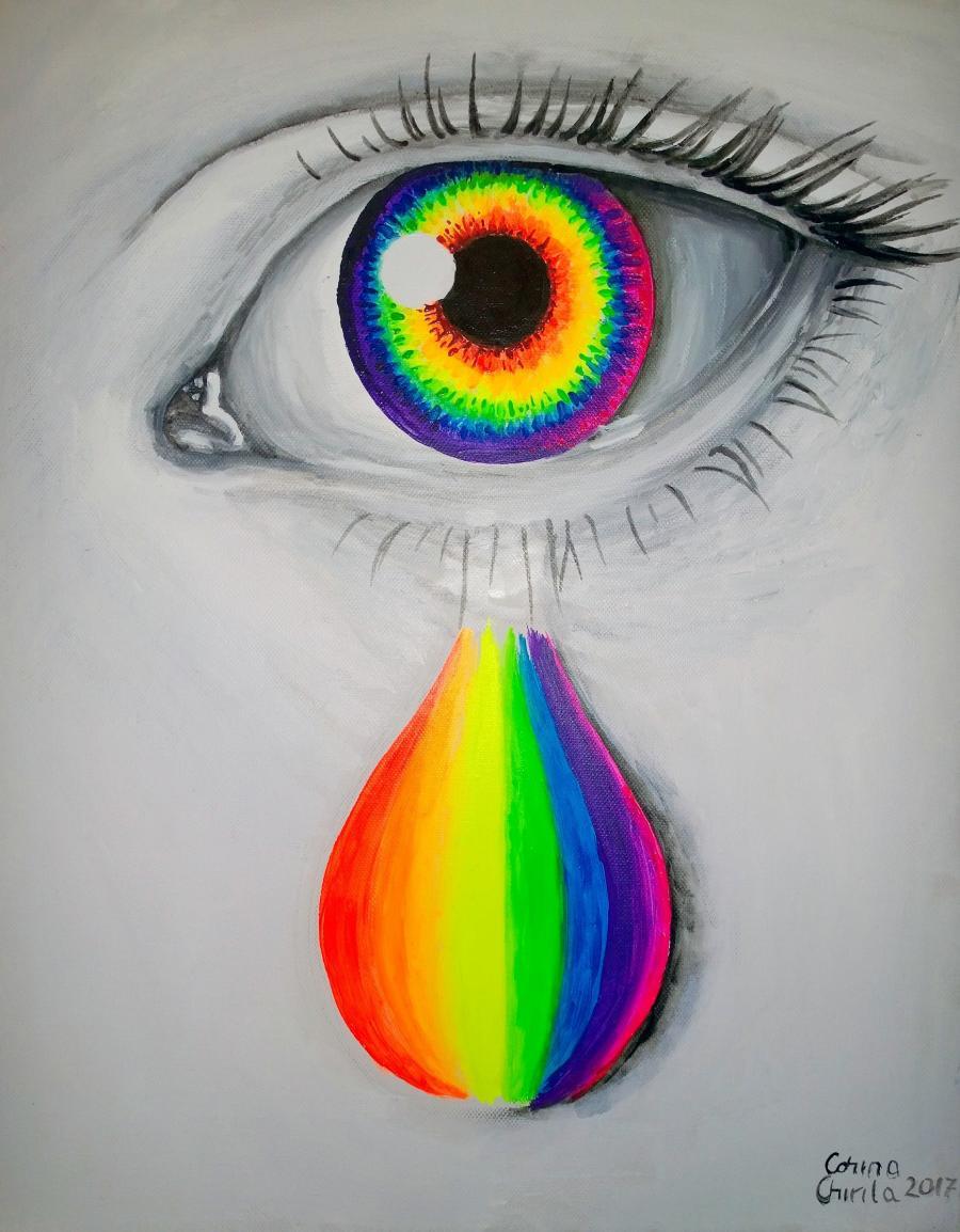 Picturi surrealism Rainbow tears