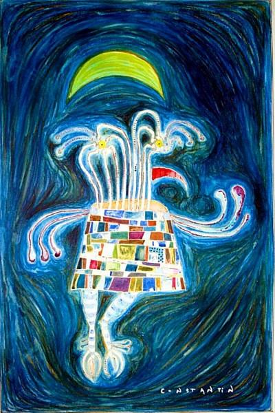 Picturi surrealism Bufnita