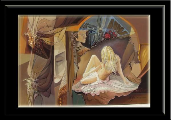 Picturi surrealism  emotie sentimentala-----156