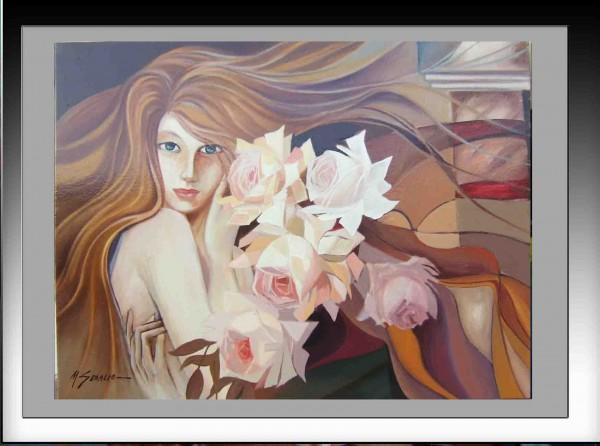 Picturi surrealism Flori pe altarul viselor--260