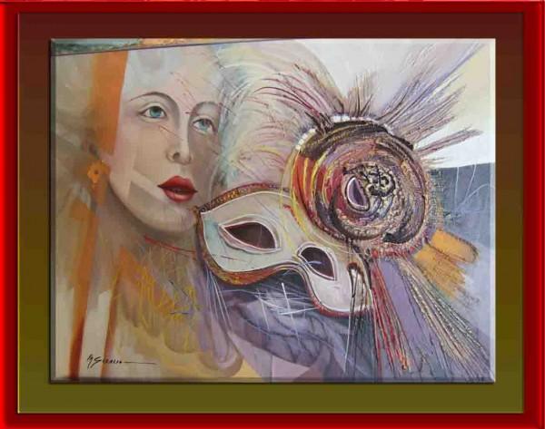 Picturi surrealism Masca de argint--100