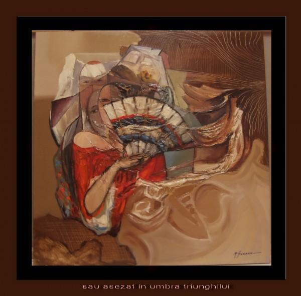 Picturi surrealism S-au asezat in umbra triunghiului--235