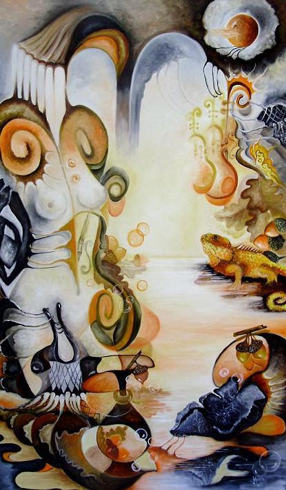 Picturi surrealism Din colectia Nymphs - November Nimph