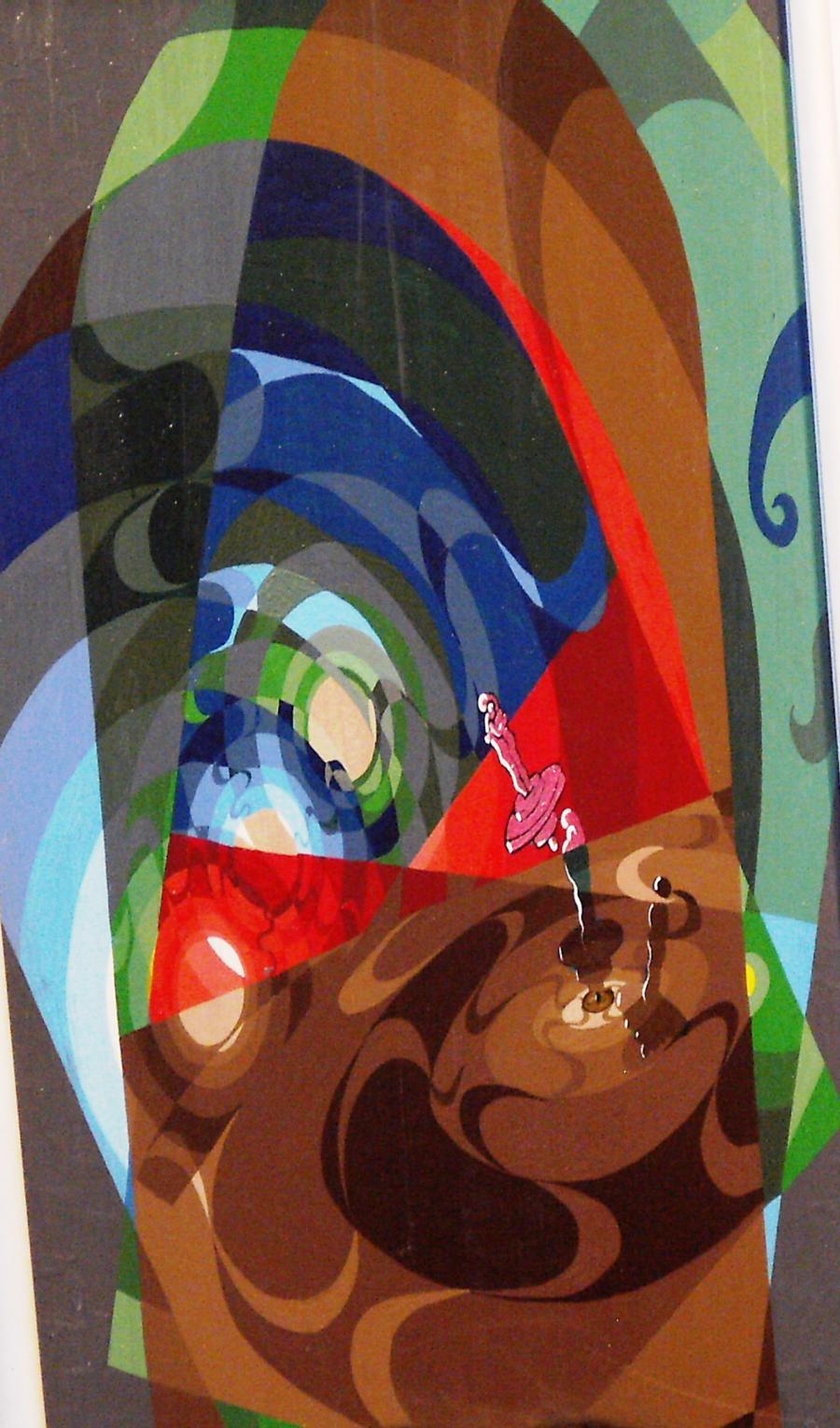 Picturi surrealism Viata ca un Titirez
