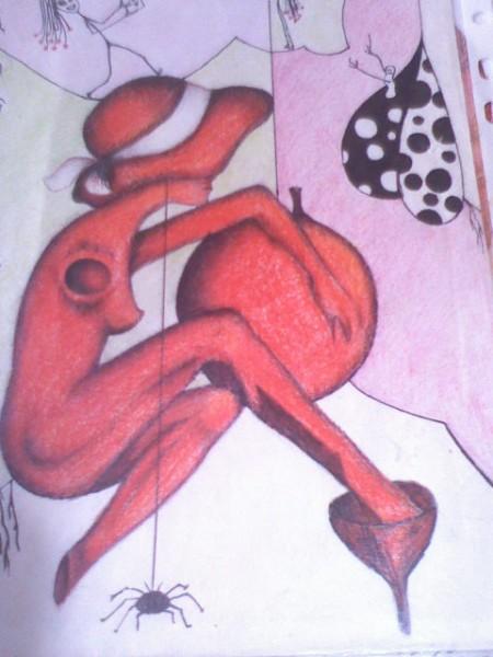 Picturi surrealism Rosu