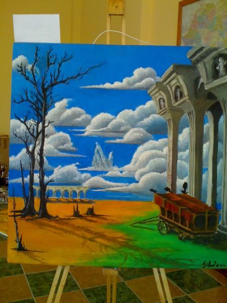 Picturi surrealism Podul vertical