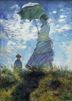 alte Picturi femeie cu umbrela