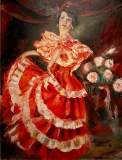 alte Picturi Dansatoarea de flamenco