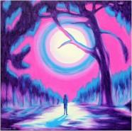 alte Picturi Drumul vietii-moonlit forest