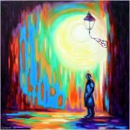 alte Picturi Luminile sufletului-night light street