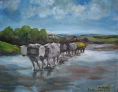alte Picturi Carul cu boi grigorescu
