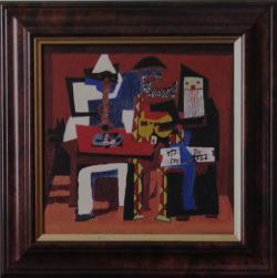 alte Picturi Trei muzicieni