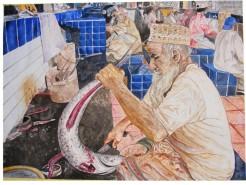 alte Picturi Fish market: disemboweling