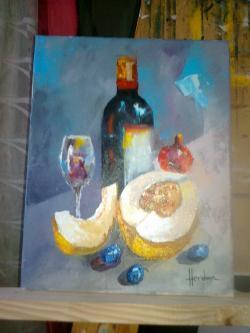 alte Picturi staticca cu pepene