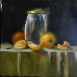 alte Picturi Portocale si vas de sticla