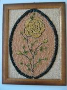 Picturi din seminte Trandafir galben