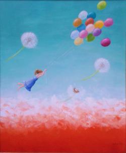 alte Picturi Fetita cu baloane
