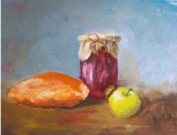 alte Picturi Natura statica cu paine