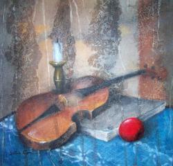 alte Picturi Natura statica cu vioara 1