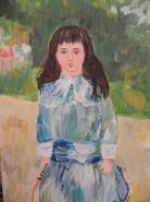 alte Picturi Fata in albastru