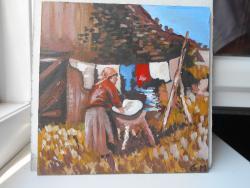 alte Picturi Femeie spaland rufe
