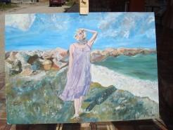 alte Picturi Marea cu femeia in mov